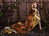 Rose-gold (tehhishek) Tags: vacation monster hair fire golden high model long wig mattel rosegold bloodgood oiga headmistress