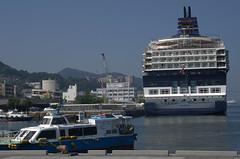 Our tour boat (left) vs big boat (Right)