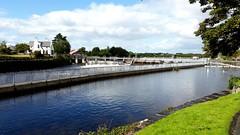 Weir-d photo. (Michael C. Hall) Tags: ireland galway corrib salmon weir canal bridge