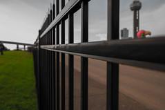 Fenced (Mudhassar) Tags: carnival urban usa macro tower reunion architecture landscape concrete photography dallas nikon cityscape texas rustic mexican filter jungle nd amateur cpl d90