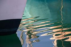 Ziggy (Raggedjack1) Tags: reflection zigzag waterreflections newlynharbour newlyncornwallnewlynfishfestival