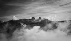 View from Rochers de Naye (oliko2) Tags: sky mountain monochrome fog landscape mono switzerland blackwhite outdoor atmosphere peaks hazy rochersdenaye nikond7100 mentreux