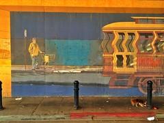 Wavy Trolley (misterbigidea) Tags: street city urban art beauty underpass mural scenic richmond explore sidewalk