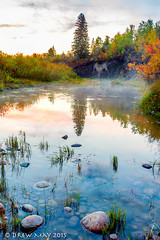 The Mist Rises (mdrew70) Tags: county autumn trees sunset canada fall st river landscape photography anne little may paddle drew lac 124 alberta mayerthorpe drewmayphoto