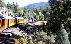 06 Durango CO to Silverton CO - Durango & Silverton Narrow Gauge Railroad  10 (Approaching High Bridge) (Johns Never Home) Tags: colorado silverton aspen durango steamtrains durangosilvertonnarrowgaugerailroad