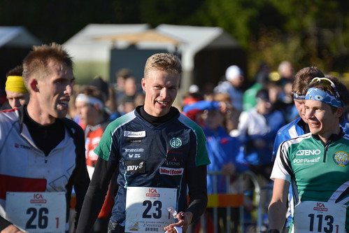 25manna 10.10.2015 - Topi R. after finishing the first leg as fastest ( Lövsättra, Vallentuna)
