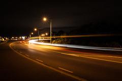 Bus Trail (Martin Jonathan NZ) Tags: longexposure night canon auckland lighttrails onehunga 500d