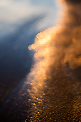 Beach bokeh (- David Olsson -) Tags: sunset oktober lake beach nature water strand landscape 50mm gold golden sand nikon october sundown sweden bokeh outdoor blurred outoffocus karlstad handheld dots f18 18 fx 50 vänern d800 wideopen värmland goldenlight 2015 skutberget bokehdots davidolsson skönavärmland