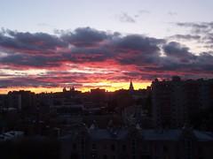 Sunset in Moscow (yulong_bobo) Tags: autumn sunset sky sun fall russia outdoor moscow закат москва небо россия общага общежитие облако мгту кодак