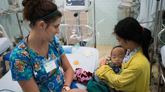 "Nurse, Anna Koppel, providing care in Vietnam • <a style=""font-size:0.8em;"" href=""http://www.flickr.com/photos/109076046@N08/22586026981/"" target=""_blank"">View on Flickr</a>"