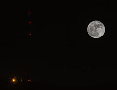 Mt. Wilson and the Super Moon (Susan Colosimo) Tags: supermoon fullmoon nightphotography multipleexposures mtwilson toweronmtwilson tower