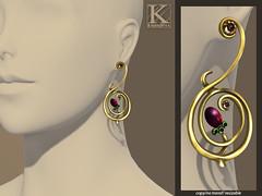 (Kunglers) Tamires earrings - vendor light gold (AvaGardner Kungler) Tags: earrings organic kunglers avagardnerkungler naturejewel secondlifejewelry kunglersextra