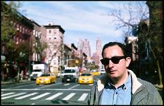 Isla Manahatta (Kechagiar) Tags: new york nyc portrait color slr film analog olympus writer konica author zuiko om1 hellskitchen christos madeinjapan 50mmf18 vx100 kcgr asteriou