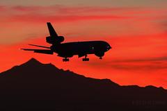 Tri-jet Sunset (Freightdog Photography - Jared Romanowicz) Tags: sunset phoenix airplane commerce aircraft aviation jet cargo boeing fedex freight phx skyharbor mcdonnelldouglas trijet md10 kphx n567fe