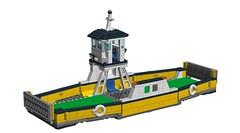 LEGO 60119 Ferry reverse-engineered! (RS 1990) Tags: city ferry lego ldd recreated digitaldesigner 60119 reverseengineered