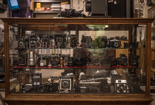 Vintage Camera Shelf