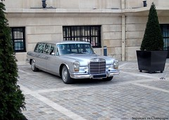 S600 Pullman. (Thibaut VT) Tags: classic silver mercedes benz pullman epernay moetchandon s600
