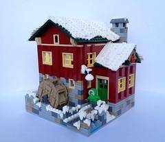 Cider Mill (Miro78) Tags: winter mill apple village lego cider