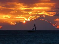 Sunset Sails (Lee Sutton) Tags: ocean sunset hawaii boat oahu sail honolulu pacifiv