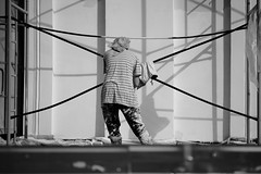 (nVa17) Tags: strangers stranger construction repairs woman city urban perm пермь незнакомка незнакомцы стройка ремонт женщина город покраска маляр street streetphoto streetphotography blackandwhite blackwhite blackandwhitephotography bnw bw чб fujifilmru fujifilm fujixt1
