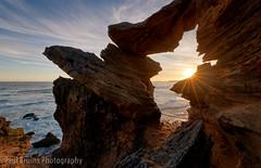 Brenton Sunset Sparkle (Panorama Paul) Tags: paulbruinsphotography wwwpaulbruinscoza southafrica westerncape brentononsea knysna rocks arch ocean sunset waves longexposure nikond800 nikkorlenses nikfilters