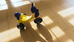 The kids are away (Bartholomew K Poonsiri) Tags: bike trike tricycle toy indoor light shadow naturallight sonyilce6000 sonyepz1650mmf3556oss