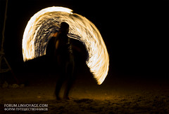 Fire show at Lanta island, Thailand (forum.linvoyage.com) Tags: sunset beach sky nature night white portrait art light street landscape summer yellow people golden country thailand lanta fire show man men dark            surreal black gold sand