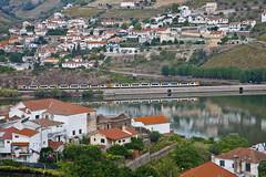 Along Douro river valley... (JOAO DE BARROS) Tags: barros joo train douro river vehicle travel portugal
