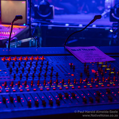 Dimly Lit Mixing Desk