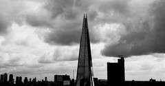 The Shard (padswift) Tags: architecture london londonarchitecture theshard shard tallbuildings londonbridge blackandwhite blackandwhitephotography blackandwhitesimages moodypictures storm