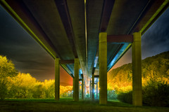 Under the motorway