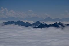 Dans les nuages (Mystycat =^..^=) Tags: picdumididebigorre hautespyrénées midipyrénées parcnationaldespyrénées france montagne nuages ciel sky clouds bagnèresdebigorre merdenuages