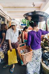 Market Street (minwage3412) Tags: myanmar burma seasia travel yangon rangoon market street crowded busy sidewalk squeeze