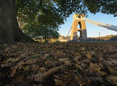 As The Leaves Tumble Down (Paul C Stokes) Tags: clifton suspension bridge cliftonsuspensionbridge bristol uk united kingdon river avon gorge high tide autumn sony a7r zeiss 1635 morning changingcolour changing colour color clouds perspective depth isambard kingdom brunel isambardkingdombrunel landscape photography landscapephotography autumcolour autumncolor autumnal outdoor serene skyline handheld notripod
