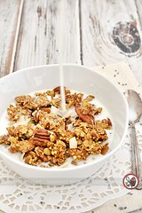 Ginger Granola (jamieanne) Tags: ginger granola muesli ancientgrains millet buckwheat oats breakfast thegingerpeople coconut