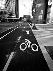 elevated / segregated bike lane (iMatthew) Tags: brutalism brutalistarchitecture architecture bostonarchitecture boston governmentcenter bw bikelane bikesafety