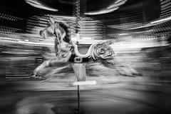 Carousel (stefanopad82) Tags: london england uk carousel bw black white movement horse spinning street