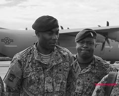 Thoughtful Determination (Halcon122) Tags: jdf humanitarian mission c130 hercules usaf southcom us embassy kingston ja haiti bw olympusem5markii