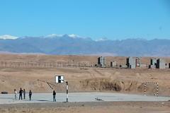 Kids play basketball in Ouarzazate (John Englart (Takver)) Tags: morocco ouarzazate kids basketball court atlasmountains desert mountains snow