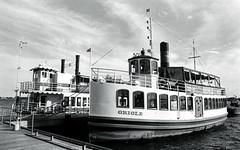 Pair of Old Timey Tour Boats_ (Bill Smith1) Tags: believeinfilm berggerbrf400 billsmithsphotography d7611 harbourfront heyfsc nikkoraislenses nikonfm2n october2016 toronto filmshooterscollective