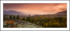 Colorful evening (andreassofus) Tags: panorama landscape grandlandscape nature beautifulnature mountains mountainscape autumn fall autumncolors trees september norway blsterdalen rondane rondanenatuonalpark sunset sunlight light naturallight sky outdoor hike hiking scandinavium beautiful clouds travel travelphotography view viewpoint foreground woods forest background canon