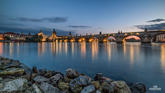 Charles Bridge (brenac photography) Tags: prague czechrepublic brenac brenacphotography samyang night blue bluehour praha bridge river d810 nikon landscape wow 14mm sky light europe central karlův most hdr locardi fstoppers sunset charles water longexposure