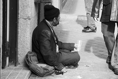 Ignored (Daniella Clare) Tags: homeless begging blackandwhite madrid spain street photography portrait portraiture ignored hunger