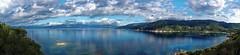 Campomoro (Schmouel) Tags: panorama landscape sea mountains clouds sky blue campomoro corse corsica wow reflet