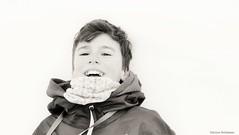 Finally (katrienberckmoes) Tags: boy reached top mountain head snow relief alps rauris austria