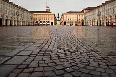 """Nel salotto di Torino - In the """"living room"""" of Turin. (sinetempore) Tags: nelsalottoditorino intheliving roomofturin piazzasancarlo torino turin bagnata piazzacastellotorino"""