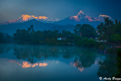 Dawn over Annapurna (Pandster1981) Tags: a77 annapurna dawn fishtail hdr honeymoon landscape nepal sony1650f28 sonya77