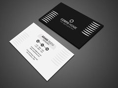 Black and White Business Card (akshor_1992) Tags: black blackandwhite blackcard businesscard card clean color corporate creative editable elegant letter letterhead modern pad print printready simple sleek stationery stylish whitecard