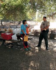 004 The Ranger Drops By To Visit (saschmitz_earthlink_net) Tags: 2016 california orienteering topangacanyon statepark laoc losangelesorienteeringclub losangeles losangelescounty santamonicamountains