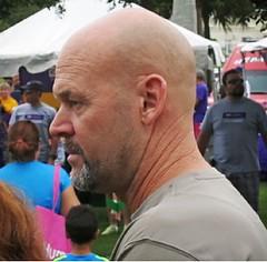 Bearded face in crowd (LarryJay99 ) Tags: men male man guy guys dude dudes bald goatee mustasch bearded profile face hotdude hairy nape